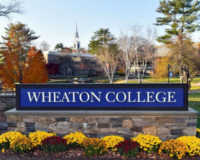 Wheaton College sign