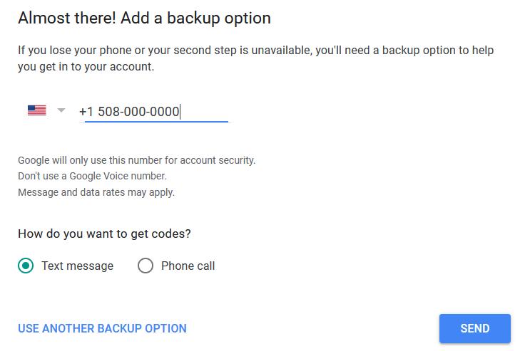 Add backup option