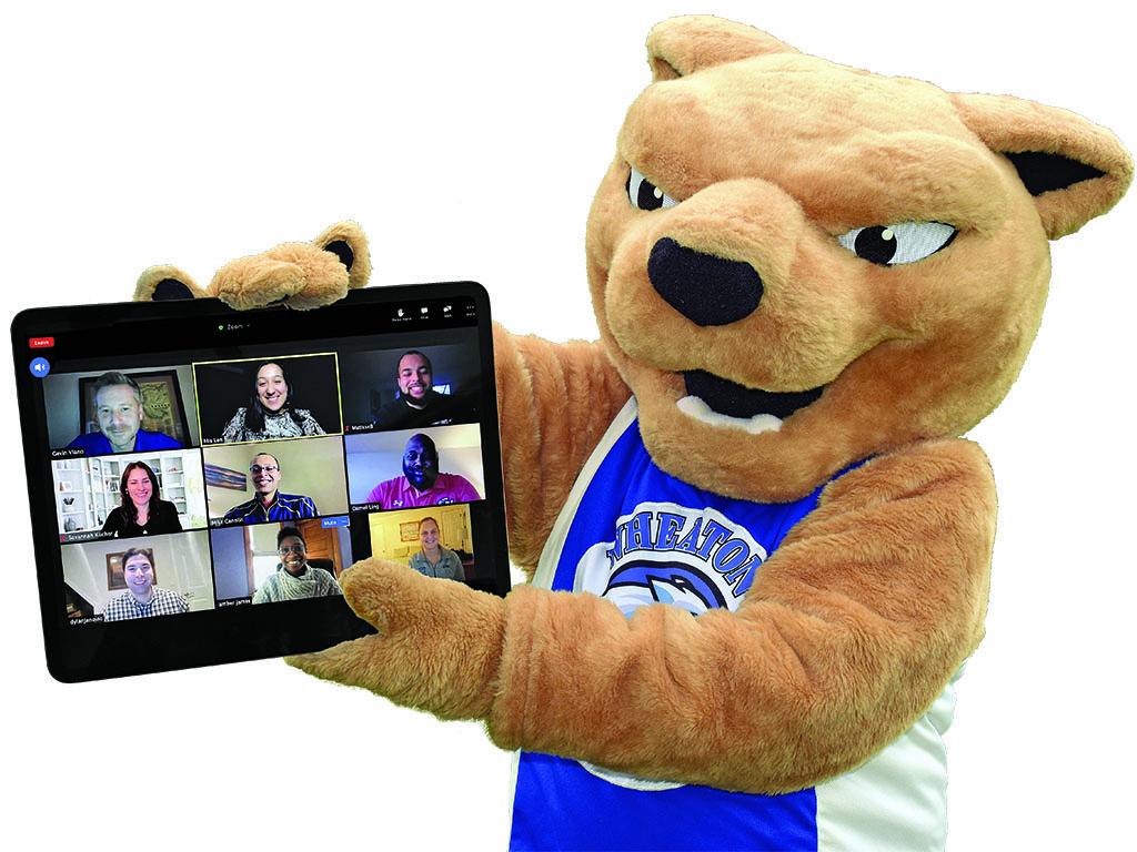 Roary holding iPad